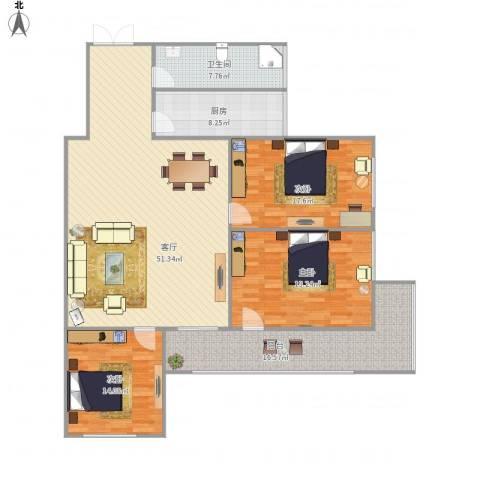 幸运小区、塔楼143平、3-1-1-13室1厅1卫1厨179.00㎡户型图