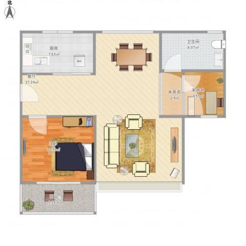 三和嘉园1室1厅1卫1厨102.00㎡户型图