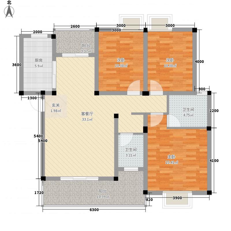 悉尼阳光11116.12㎡二期11栋亲心湾A2/B1/B2户型3室2厅2卫1厨