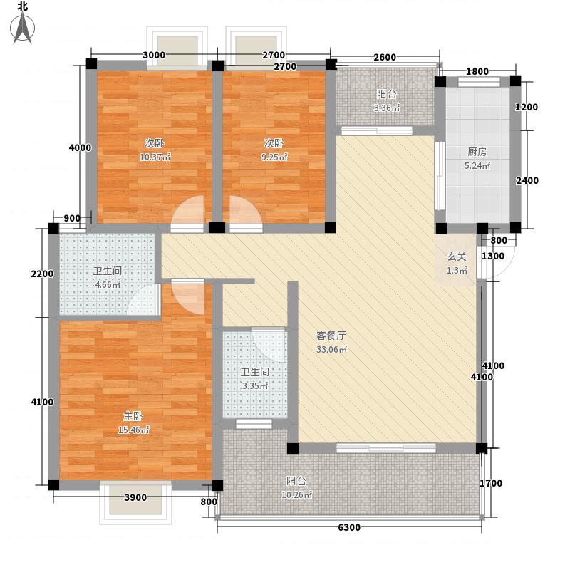 悉尼阳光11115.20㎡二期11栋亲心湾C1户型3室2厅2卫1厨