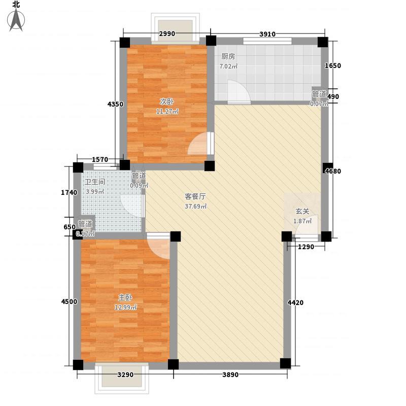 广兴花园7.55㎡户型2室