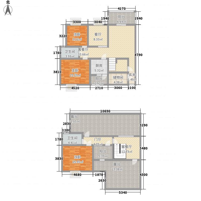 北部桂庭159.88㎡C2跃户型3室3厅2卫1厨