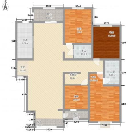 锦绣家园4室1厅0卫1厨207.00㎡户型图