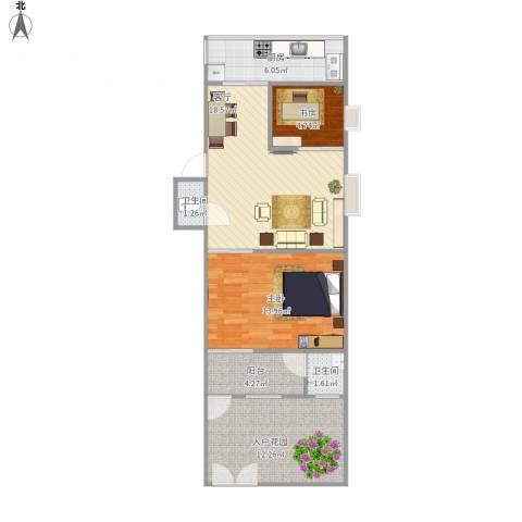 机车大厂宿舍7号4号楼1单元1012室1厅2卫1厨85.00㎡户型图