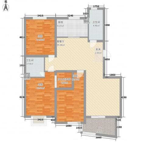名桂坊3室1厅2卫1厨139.00㎡户型图