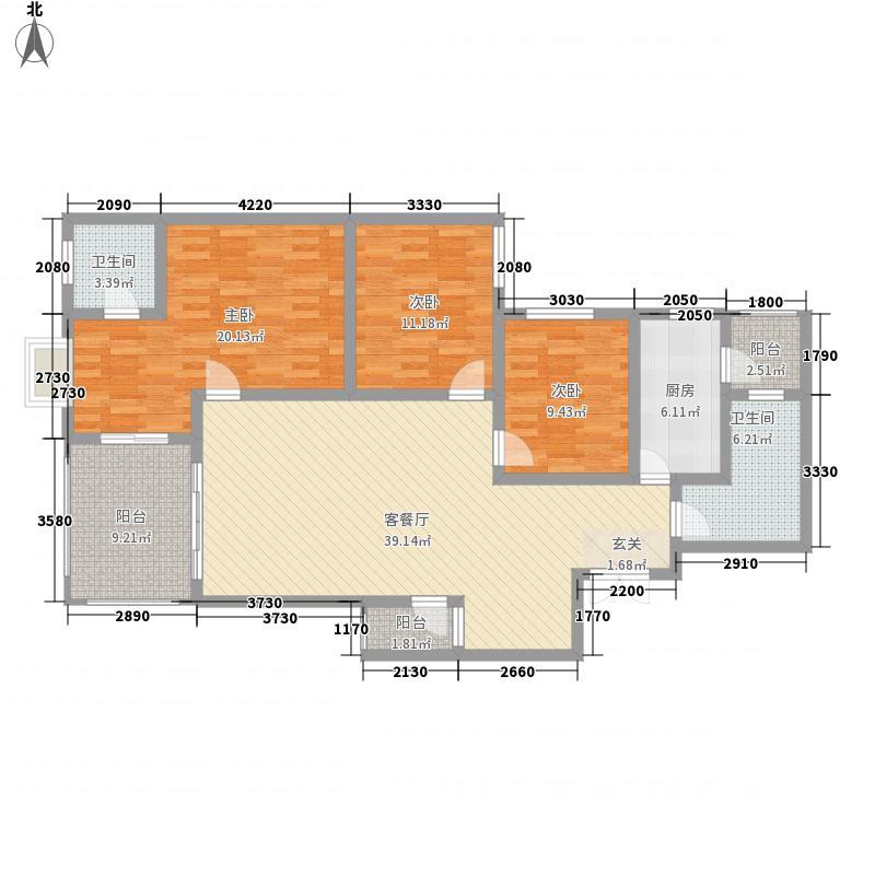景合上城513.42㎡景合阁5号房户型3室2厅2卫1厨