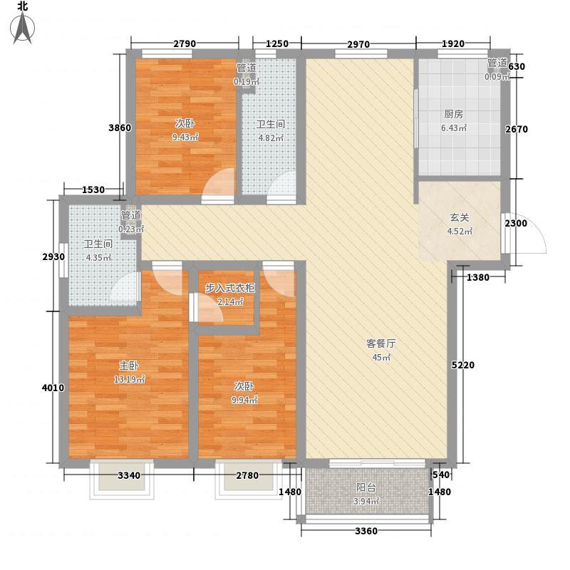 万汇・国际广场142.70㎡B114279户型3室2厅2卫