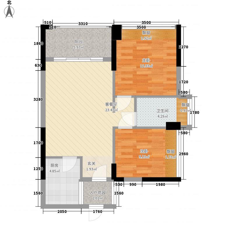 恒怡湾74.72㎡二期6栋2-27层户型