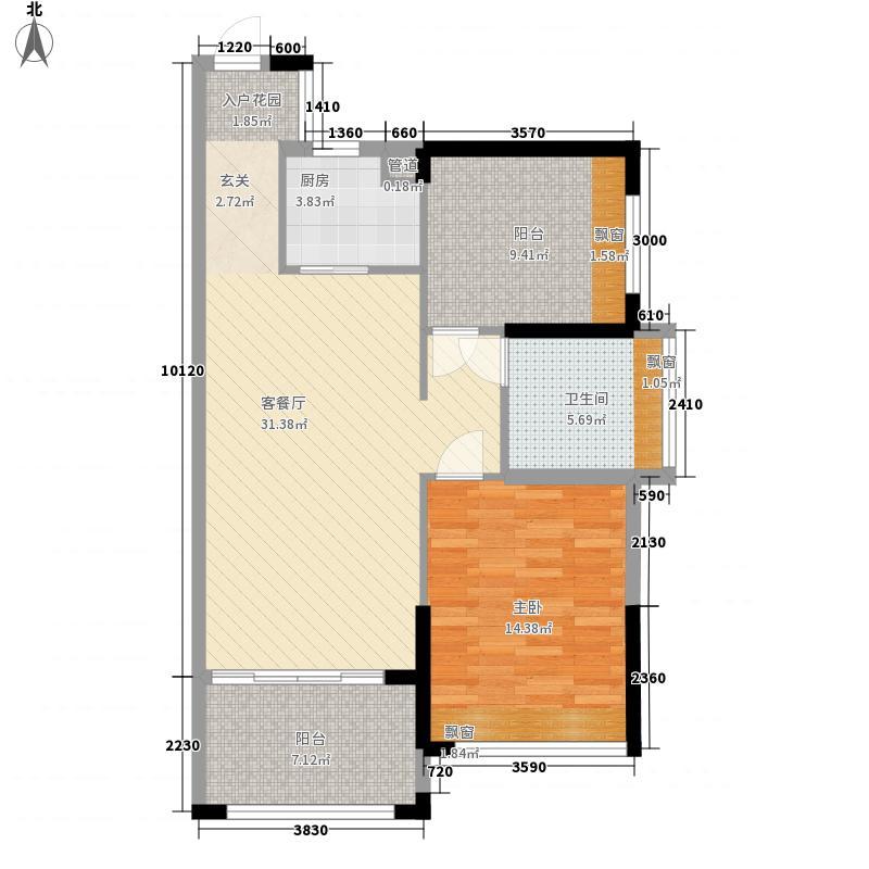 恒怡湾81.46㎡二期6栋2-27层户型