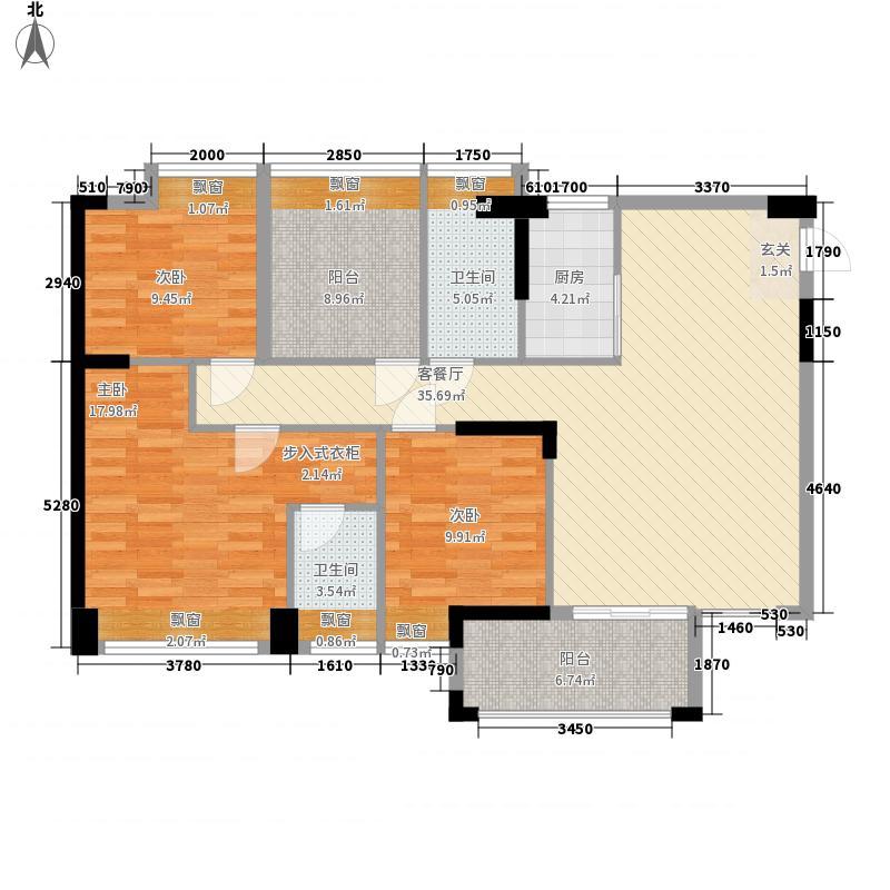 恒怡湾118.60㎡二期6栋2-27层户型