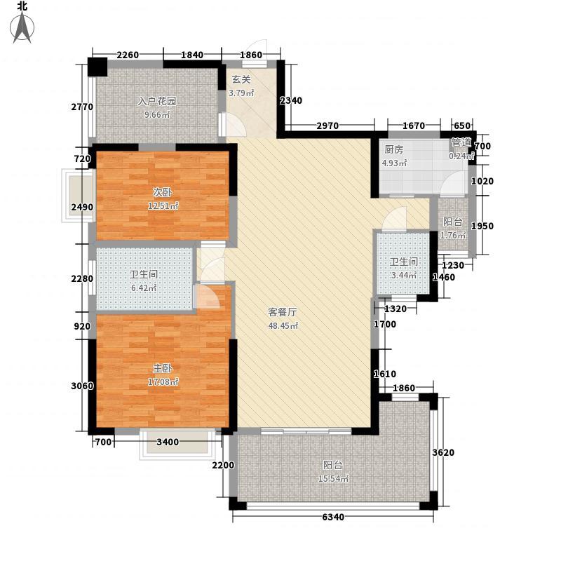 恒怡湾144.48㎡2栋3-27层标准层02户型3室2厅2卫