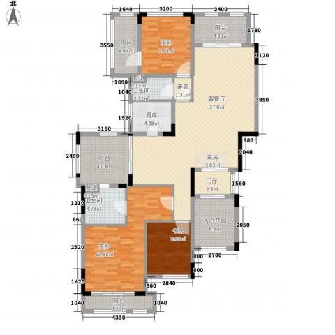 华发・蔚蓝堡3室1厅2卫1厨171.00㎡户型图