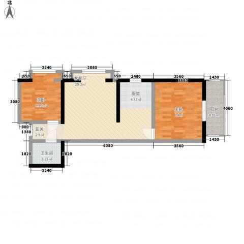 嘉祥世家2室1厅1卫0厨81.00㎡户型图