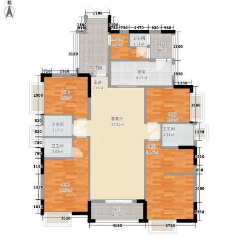 世纪城国际公馆贝丽湖4室1厅4卫1厨160.00㎡户型图