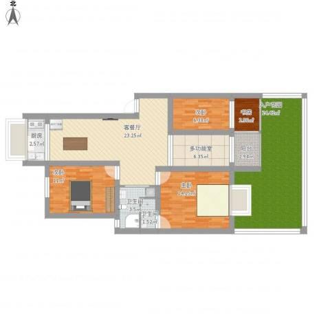 玉兰香苑四期两室户4室1厅2卫1厨147.00㎡户型图