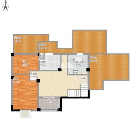 瑶海家园2室1厅2卫1厨153.00㎡户型图