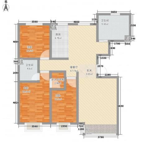 山水宜居3室1厅2卫0厨164.00㎡户型图
