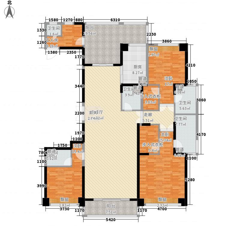 合肥万达广场260.00㎡合肥万达广场户型图10#楼户型B3室2厅4卫1厨户型3室2厅4卫1厨