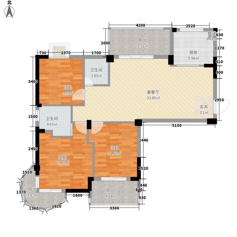 汇成名郡111.70㎡高层47、51、55、58#楼C5户型2室2厅1卫1厨