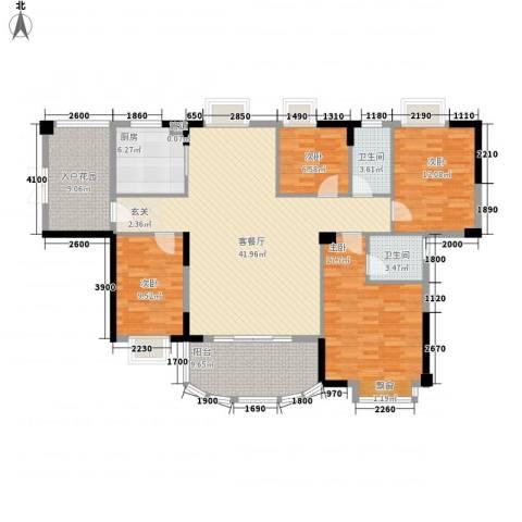 榕景华庭4室1厅2卫1厨144.00㎡户型图