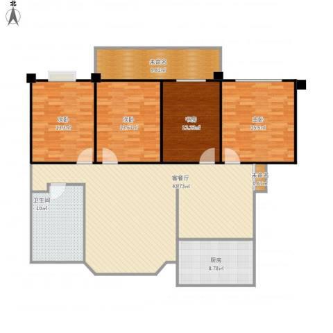 丽水花园4室1厅1卫1厨171.00㎡户型图
