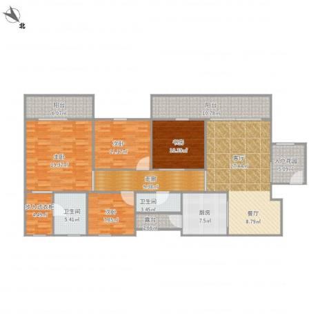 东方顺景1栋3014室1厅2卫1厨178.00㎡户型图