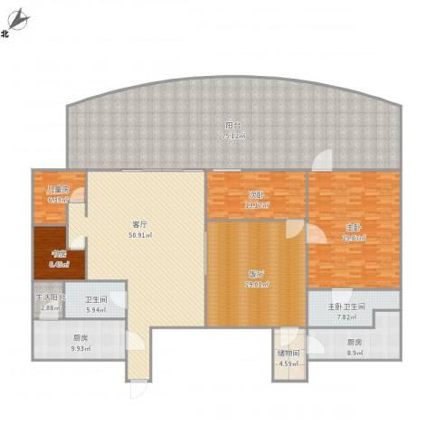 东方傲景峰-1栋20024室1厅1卫2厨331.00㎡户型图