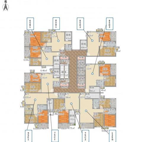 新兴骏景园三期9室8厅9卫8厨864.00㎡户型图
