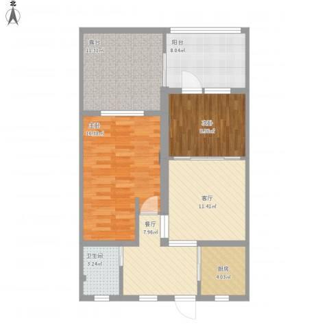 泗塘七村2室2厅1卫1厨103.00㎡户型图