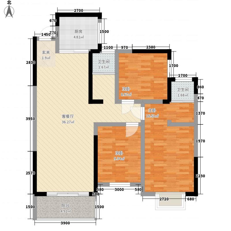 阳光丽景111.36㎡1-C、2-C户型3室2厅2卫