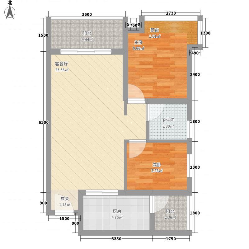 祈福海湾二期75.18㎡祈福海湾二期B户型2室2厅1卫1厨75.18㎡户型2室2厅1卫1厨