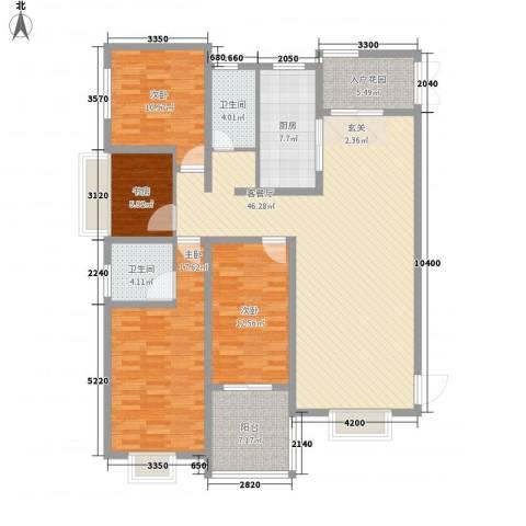 腾运世元4室1厅2卫1厨139.10㎡户型图