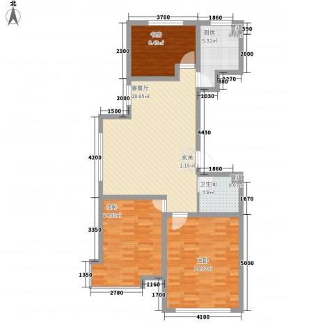 锦绣蓝湾3室1厅1卫1厨112.00㎡户型图