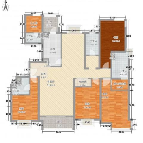 融科橄榄城三期君邑4室1厅4卫1厨223.00㎡户型图