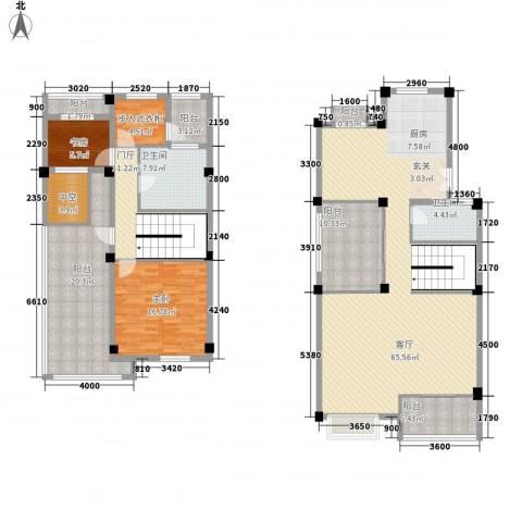 远洋新干线2室1厅2卫0厨229.00㎡户型图