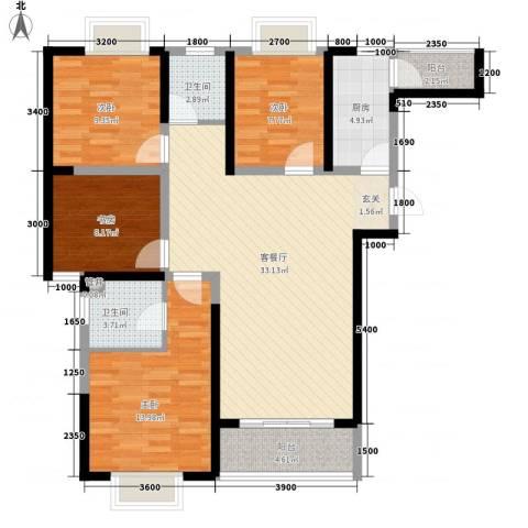 腾瑞・幸福里4室1厅2卫1厨413.00㎡户型图