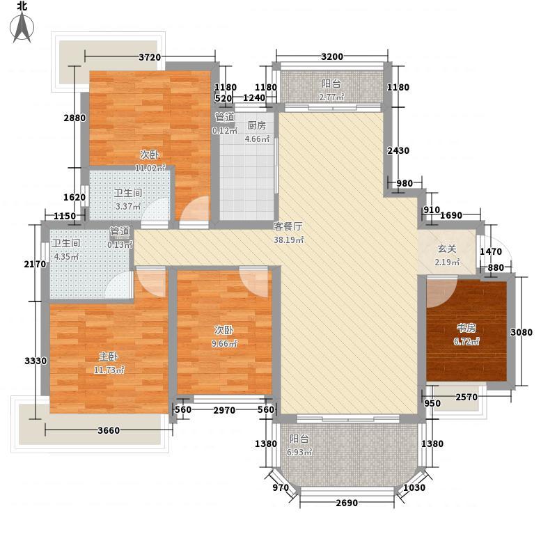 衢州碧桂园143.00㎡J557户型4室2厅2卫1厨