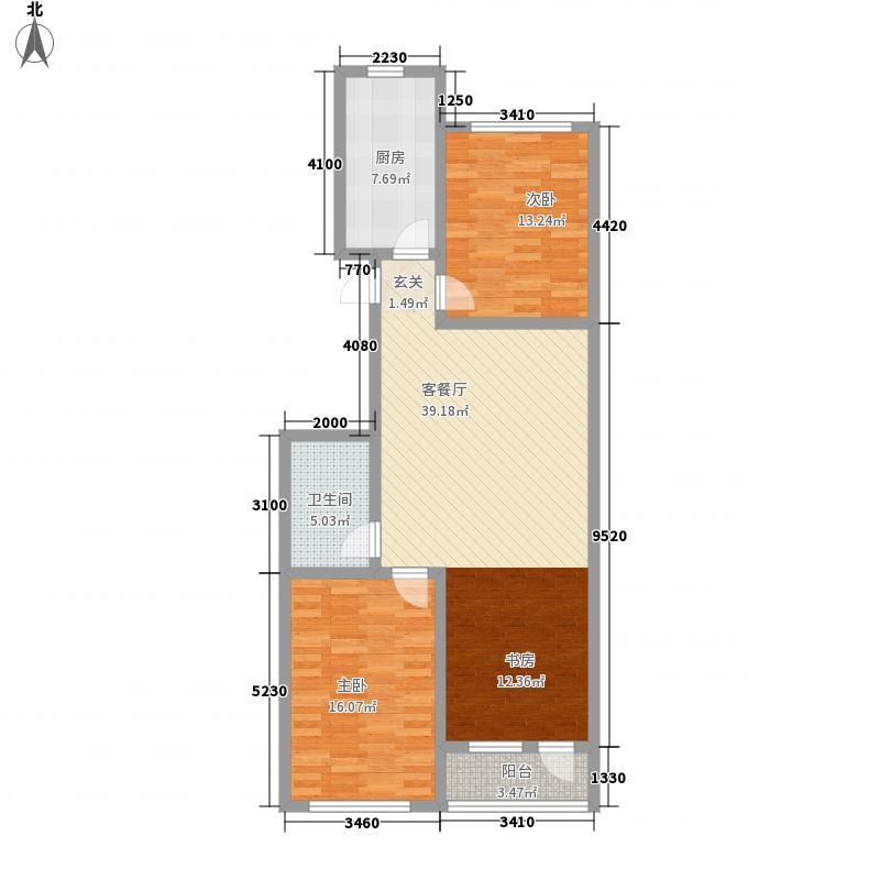 赤峰香格里拉国际城112.20㎡CG户型3室2厅1卫1厨