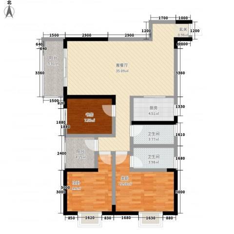 腾瑞・幸福里3室1厅2卫1厨311.00㎡户型图