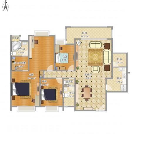 惠东雍景豪庭3室2厅2卫1厨179.00㎡户型图