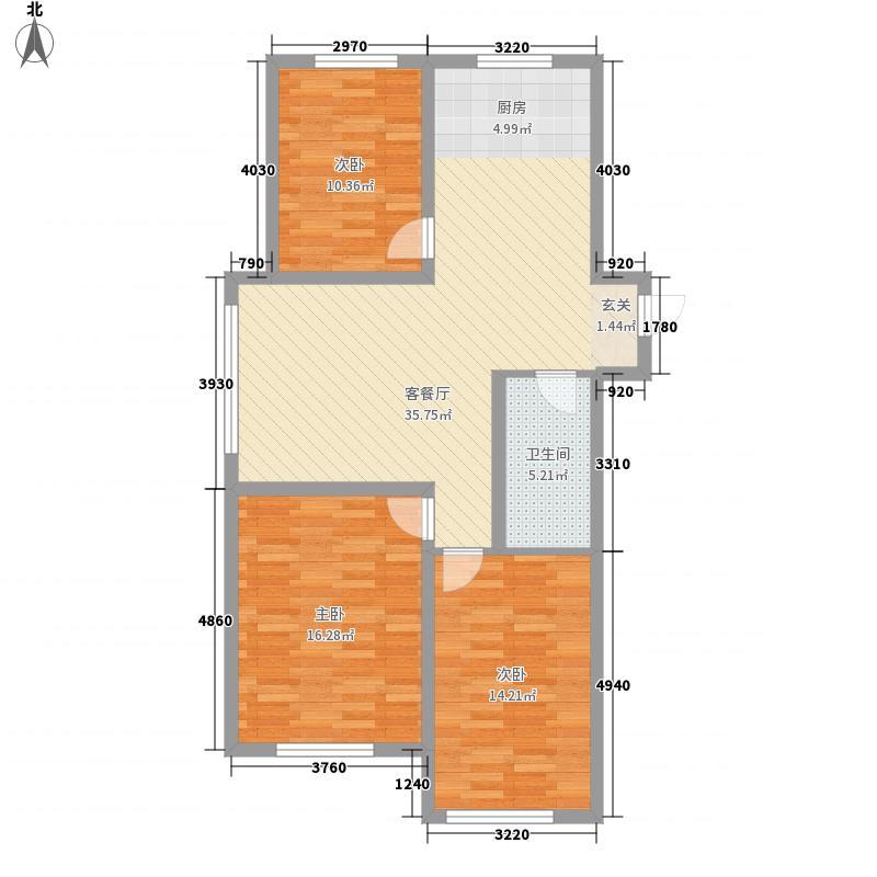 赤峰香格里拉国际城CG10户型3室2厅1卫1厨