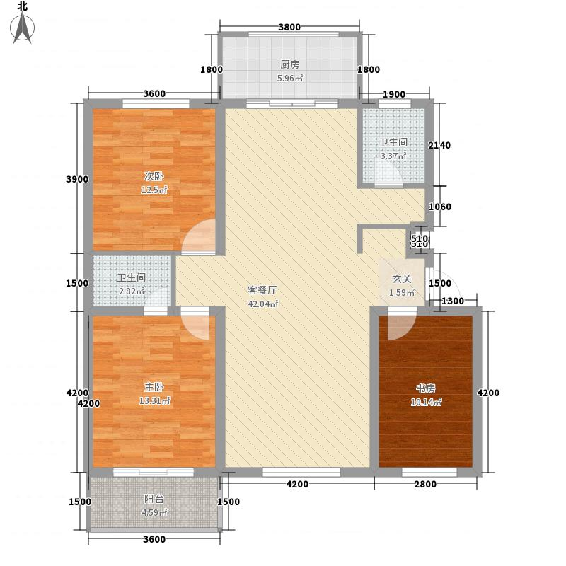学府康城121.69㎡学府康城户型图B3室2厅2卫1厨121.69㎡户型3室2厅2卫1厨