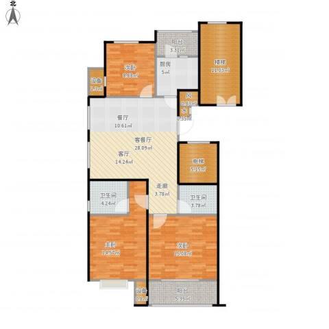 京门府3室1厅2卫1厨146.00㎡户型图