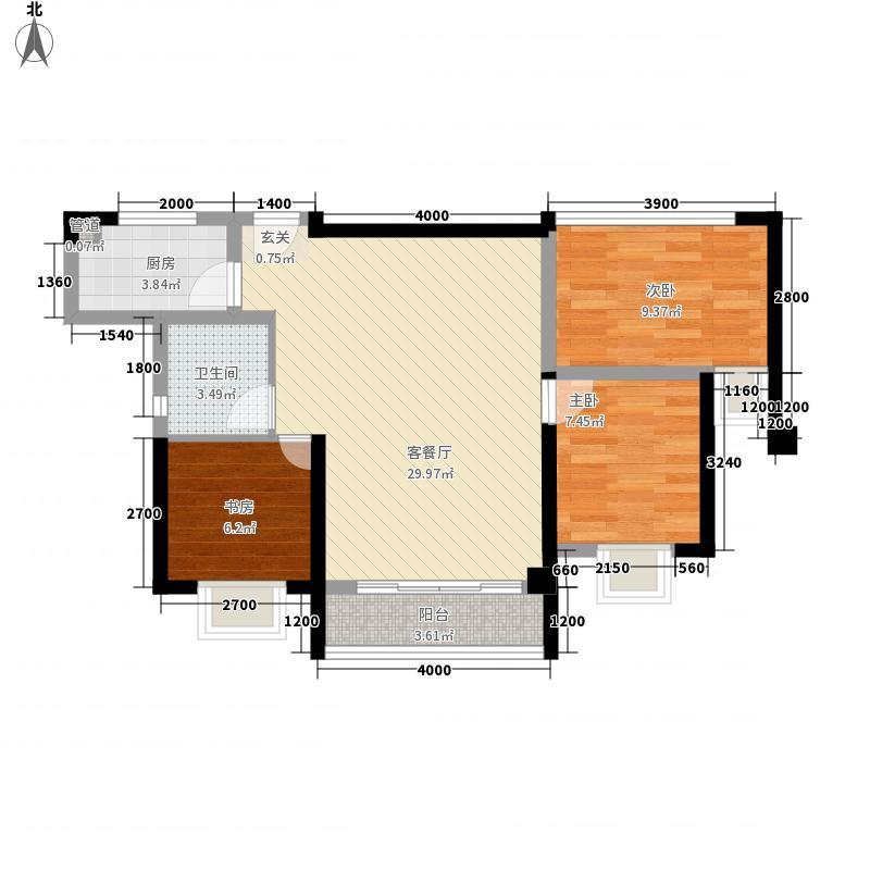 永丰鑫城4133.20㎡户型4室2厅2卫1厨