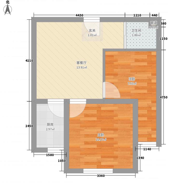 京东紫晶一期7#单身公寓iSolo2号小公馆户型