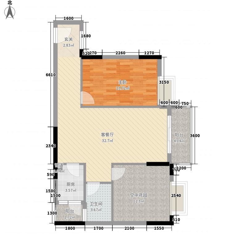 泰瑞名轩8.80㎡2栋B户型3室2厅1卫1厨