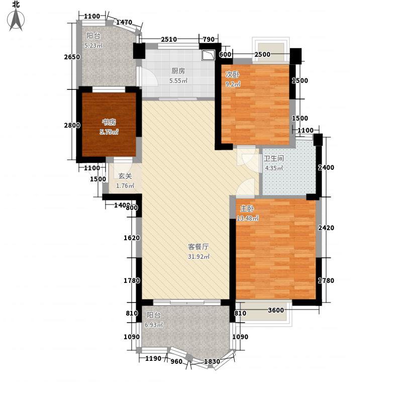 衡阳碧桂园116.00㎡J472-C户型3室2厅1卫1厨