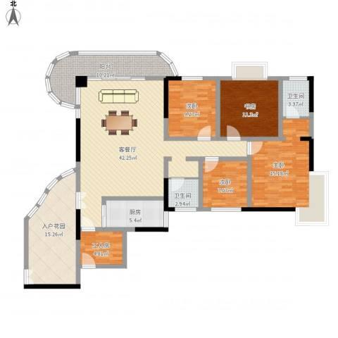 南湖中祥大厦4室1厅2卫1厨184.00㎡户型图
