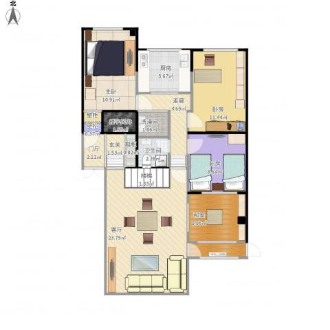 阳光绿景1室1厅1卫1厨120.00㎡户型图
