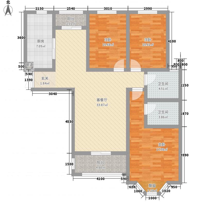 天麒家园138.15㎡一户型3室2厅2卫1厨